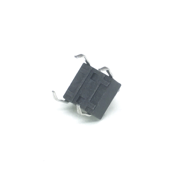 100pcs/lot 6*6*4.3 mm Interruptor 4 PIN Tactile Tact switch 12V Push Button Micro Switch Direct Plug-in Self-Reset Top DIP