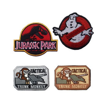 3D Embroidery armband Jurassic Park patch Tyrannosaurus patches Ghostbusters patch Dead Head Fred badge Tactical monkey patch
