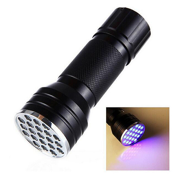 Mini Taşınabilir UV Ultra 21 LED El Feneri Menekşe Mor Blacklight Torch Lamba Işık