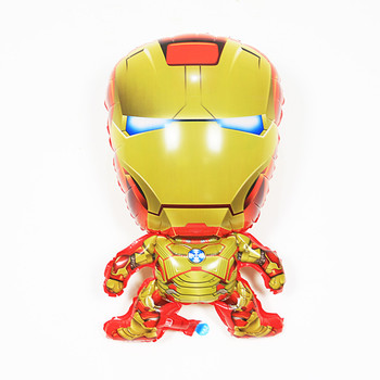 TSZWJ R-003 Foreign Trade Cartoon Balloon Shaped Cute Baby Wedding Birthday Party Favorite Must-gold Iron Man Balloon