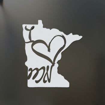 Ben Isı Minnesota için Sticker Komik Araba Pencere Atmosfer Minneapolis MN LoveRear Pencere Araba Sticker