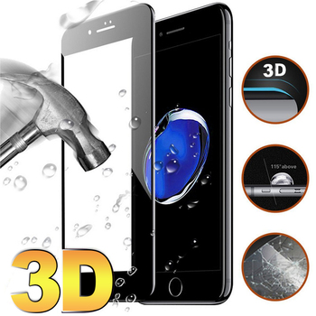 3D HD Tam Ekran Kapak Temperli Cam iphone 7 Case Apple Için iPhone X 6 6 S 7 8 Artı 8 Ekran Koruyucu Cam Filmi 9 H 0.3mm